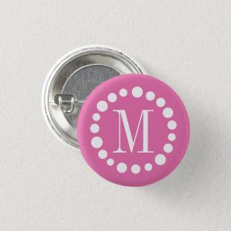 Monogram Pink 3 Cm Round Badge