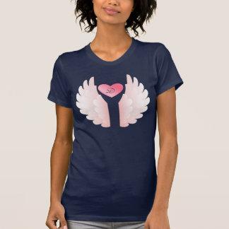 Monogram Pink Angel Wings T-Shirt