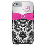 Monogram Pink, Black, Silver Damask iPhone 6 case Tough iPhone 6 Case