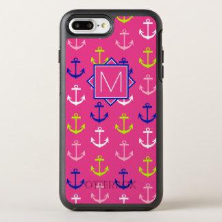 Monogram | Pink & Blue Nautical OtterBox Symmetry iPhone 8 Plus/7 Plus Case