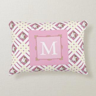Monogram Pink Bulldog Decorative Cushion