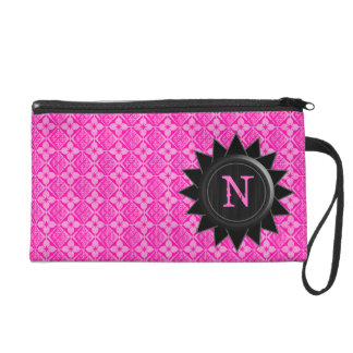 Monogram Pink Customizable Bagetttes Wristlet Bag