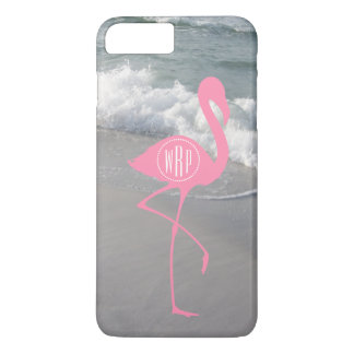Monogram Pink Flamingo Beach iPhone 7 Plus Case