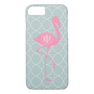 Monogram Pink Flamingo + Quatrefoil iPhone 8/7 Case