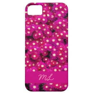 Monogram pink flowers barely there iPhone 5 case