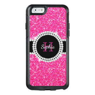 Monogram Pink Glitter Stylish OtterBox iPhone 6/6s Case