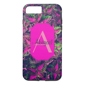 Monogram - Pink Leaf Camo iPhone 7 Plus Case