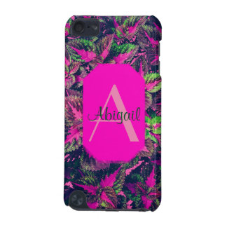 Monogram - Pink Leaf Camo iPod Touch (5th Generation) Cases