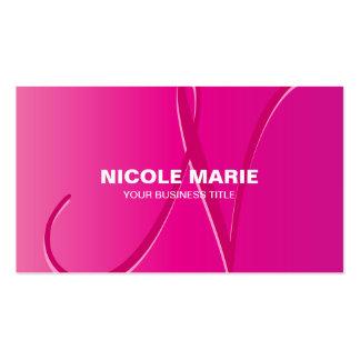 Monogram Pink Ombre Gradient Business Card