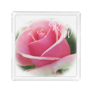 Monogram Pink Rose Perfume Tray