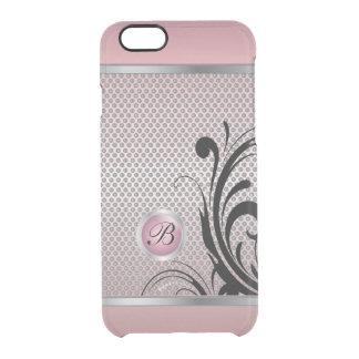 Monogram Pink Tourmaline Silver Mesh