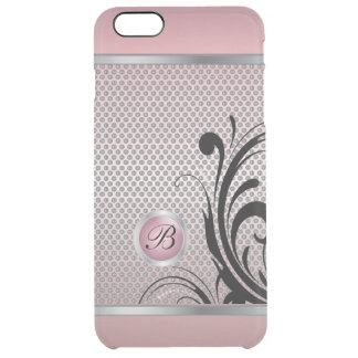 Monogram Pink Tourmaline Silver Mesh Clear iPhone 6 Plus Case