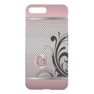 Monogram Pink Tourmaline Silver Mesh iPhone 8 Plus/7 Plus Case