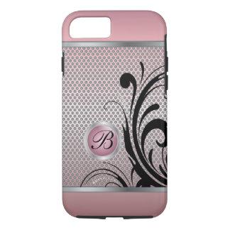Monogram Pink Tourmaline Silver Metal Mesh iPhone 7 Case