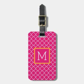 Monogram | Pink Trefoil Luggage Tag