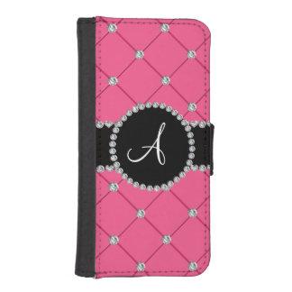 Monogram pink tuft diamonds iPhone 5 wallet case