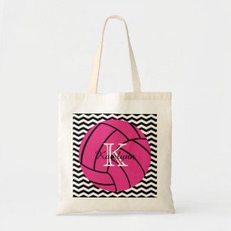 Monogram Pink Volleyball Tote Bag