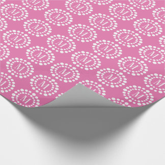 Monogram Pink Wrapping Paper