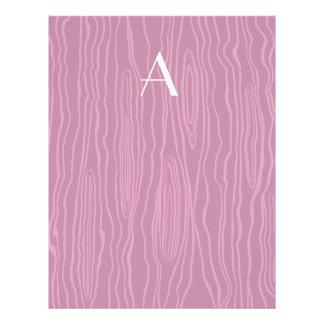 Monogram plum purple faux bois custom flyer