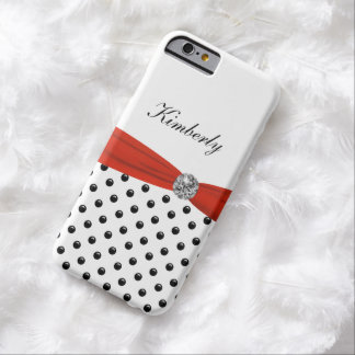 Monogram Polka Dot Style Barely There iPhone 6 Case
