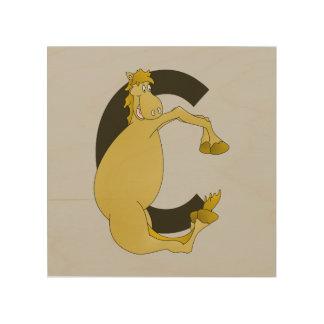 Monogram Pony C Wood Canvas