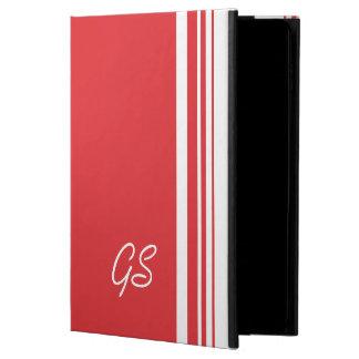Monogram Poppy Red Trio Stripes with White Powis iPad Air 2 Case