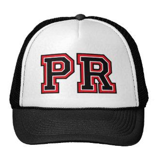 Monogram 'PR' initials Mesh Hat