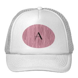 Monogram pretty pink faux bois trucker hat