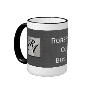 Monogram Professional Elegant Carbon Fiber Mugs