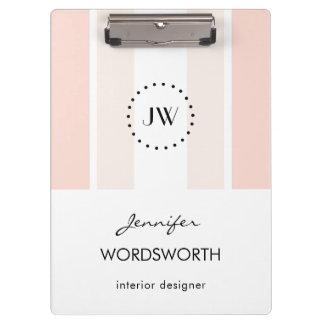 Monogram Professional Elegant Pastel Clipboard