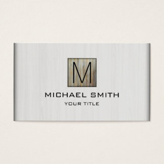 Monogram Professional Elegant White Wood #10