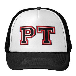 Monogram 'PT' initials Trucker Hats