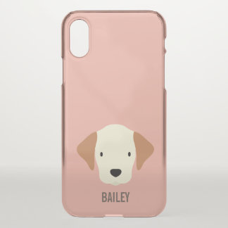 Monogram. Pups Rule! Cute Puppy Dog. iPhone X Case