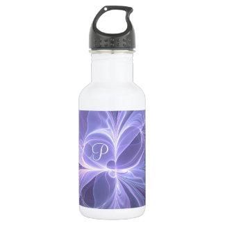 Monogram Purple Abstract Modern Fractal 532 Ml Water Bottle