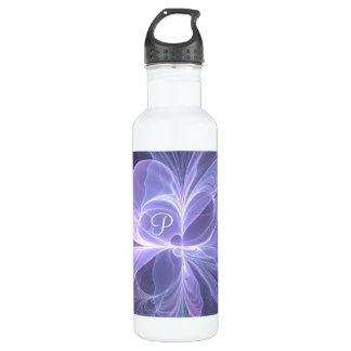 Monogram Purple Abstract Modern Fractal 710 Ml Water Bottle