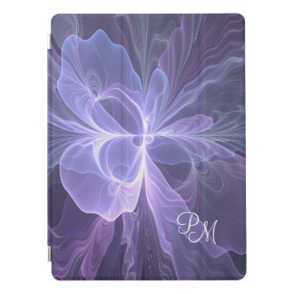 Monogram Purple Abstract Modern Fractal iPad Pro Cover