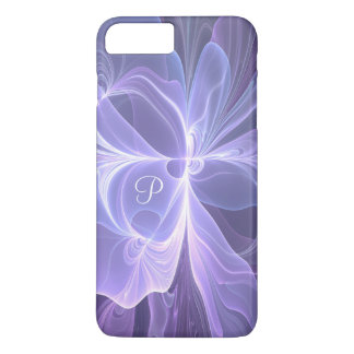 Monogram Purple Abstract Modern Fractal iPhone 8 Plus/7 Plus Case