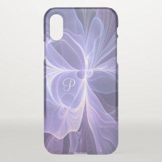 Monogram Purple Abstract Modern Fractal iPhone X Case