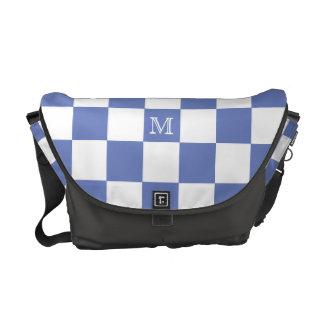 Monogram: Purple And White Checkered Bag Messenger Bags
