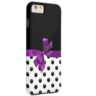 Monogram Purple Bow Tough iPhone 6 Plus Case