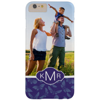 Monogram | Purple Butterflies Barely There iPhone 6 Plus Case