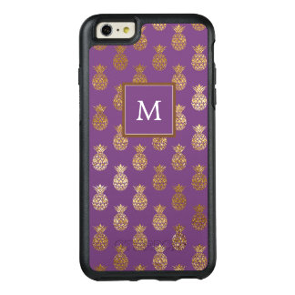 Monogram | Purple & Copper Pineapples OtterBox iPhone 6/6s Plus Case