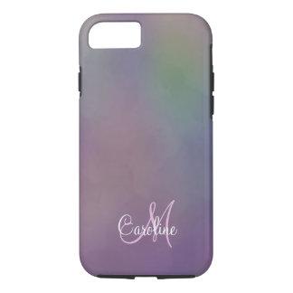 Monogram Purple Green Magenta Yellow iPhone 8/7 Case