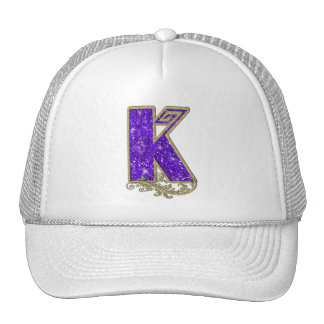 Monogram Purple K Cap