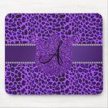 Monogram purple leopard