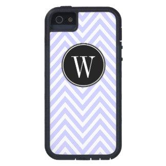 Monogram Purple Lilac Chevron Zig Zag Pattern Cover For iPhone 5
