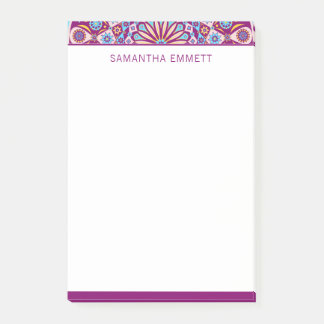 Monogram Purple Mandala Colorful Post-it® Notes
