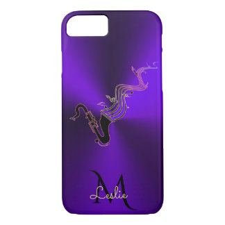 Monogram Purple Metallic Saxophone iPhone 8/7 Case