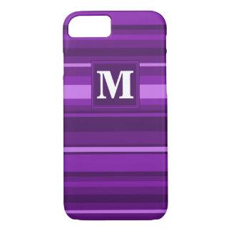 Monogram purple stripes iPhone 7 case