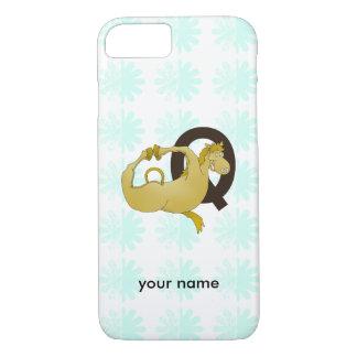 Monogram Q Cartoon Pony Customized iPhone 7 Case